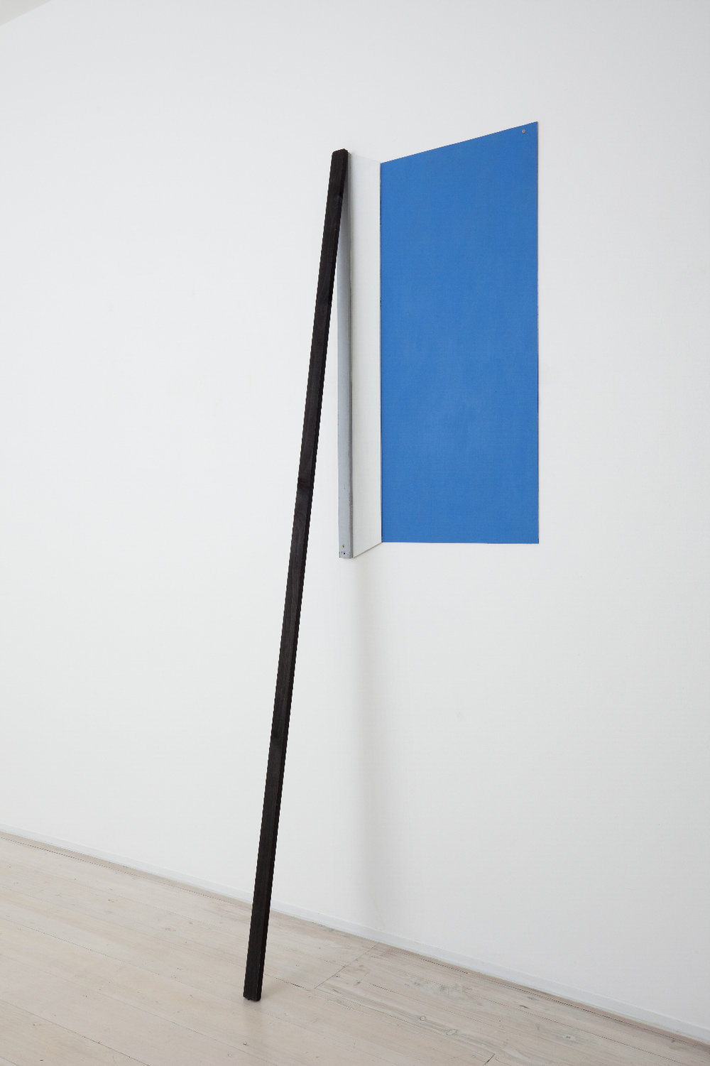 SIMON BLAU  Prop for Blue  2011 acrylic on mdf and timber 228.5 × 62 cm