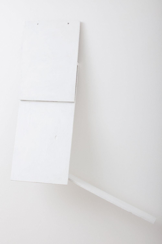 SIMON BLAU  Ramp 2010 gesso on plywood 110 ×80 cm