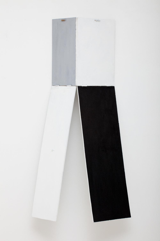 SIMON BLAU  Hinge Drop 2010 gesso on plywood dimensions variable