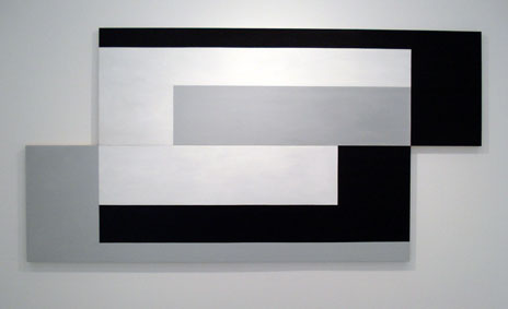 SIMON BLAU   Continental Shift  2007  acrylic on panel 124 × 243 cm