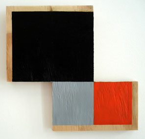 SIMON BLAU   Criss Cross  2007  acrylic on plywood 24.5 × 25.5 cm