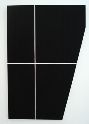 SIMON BLAU   Package 1  2007  acrylic on plywood 91 × 61 cm