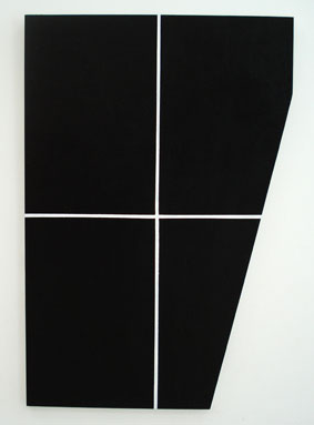 SIMON BLAU  Package 2  2007 acrylic on plywood 91 × 61 cm