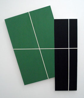 SIMON BLAU    Pa ckage  3 2008  acrylic on plywood 115 × 96.5 cm