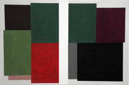 SIMON BLAU  Separation 1  2007 acrylic on polyester 60.5 × 91 cm