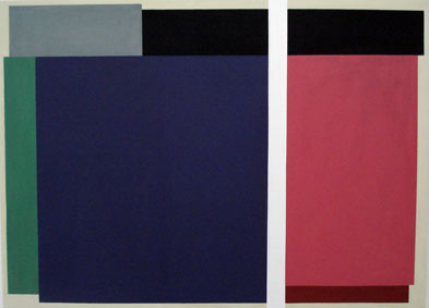 SIMON BLAU  Separation 2  2007 acrylic on polyester 122 × 167.5 cm