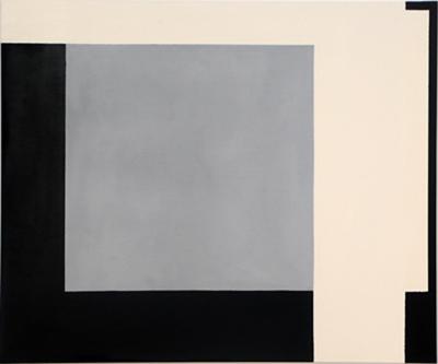 SIMON BLAU   Overlap 2006 enamel & acrylic on polyester 101 ×121 cm
