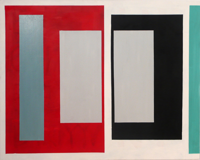 SIMON BLAU    Inner Grey  2005 oil on canvas 122 × 152 cm