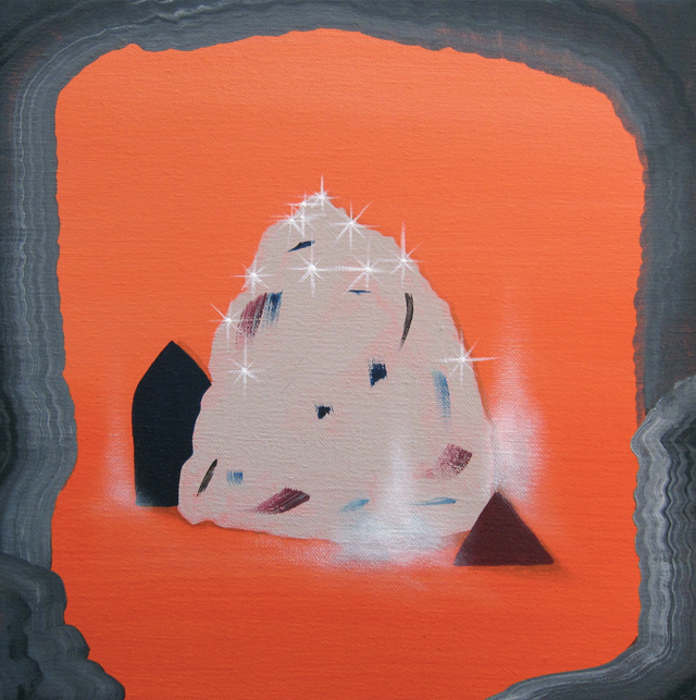 MICHELLE HANLIN A Shape Shines 2012 acrylic on canvas 25.5 x 25.5 cm