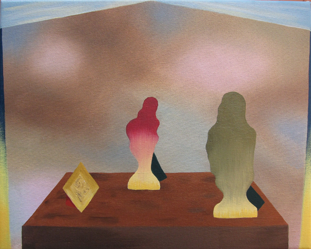 MICHELLE HANLIN The Dance 2012 oil on canvas 30 x 38.5 cm