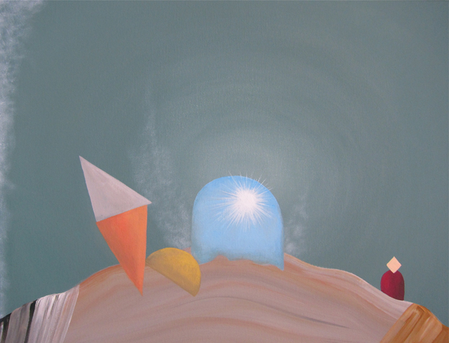 MICHELLE HANLIN  The Light and Air  2012 acrylic on canvas 36 × 46 cm