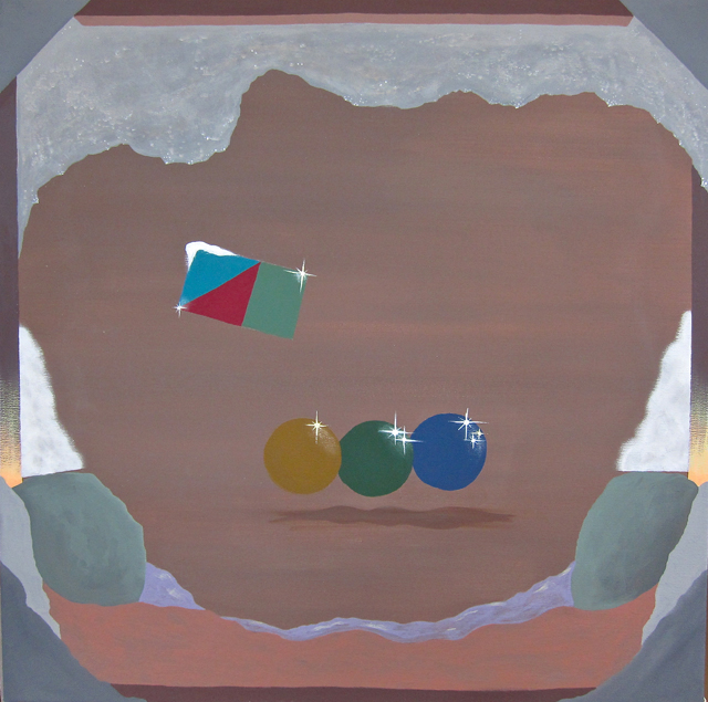 MICHELLE HANLIN  Trans-Seasonal Problem Scenery  2012 acrylic on canvas 56 × 56 cm
