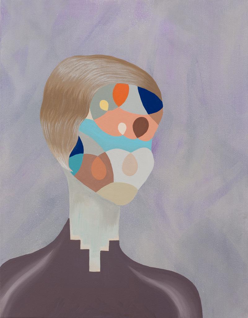 MICHELLE HANLIN  Day Tripper  2011  acrylic on canvas  45.5 ×35.5 cm
