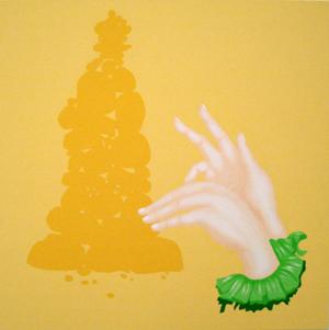 MICHELLE HANLIN  Go for Gold 2008 acrylic on canvas 66 ×66 cm