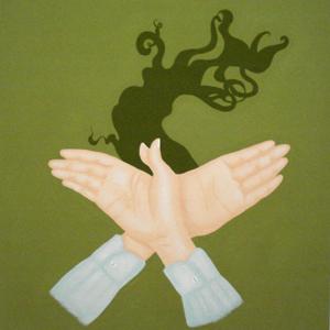 MICHELLE HANLIN  Smoko 2008 acrylic on canvas 66 ×66 cm