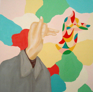 MICHELLE HANLIN  Specific Gestures  2008 acrylic on canvas 61 × 61 cm