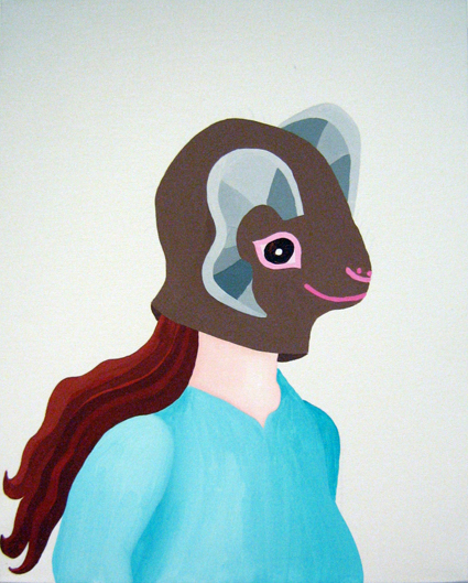 MICHELLE HANLIN  Betty  2007 acrylic on canvas 51 × 41 cm