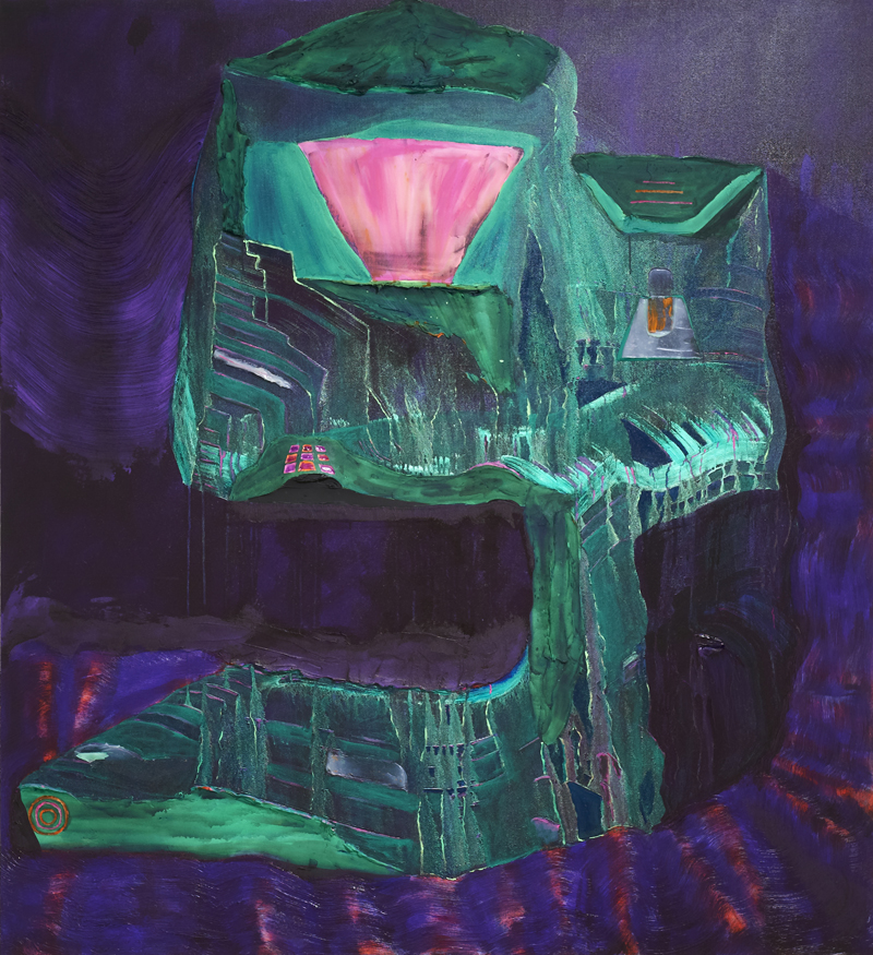 ANDRZEJ ZIELINSKI  ATM at Night  2011 acrylic on linen 165 × 165 cm
