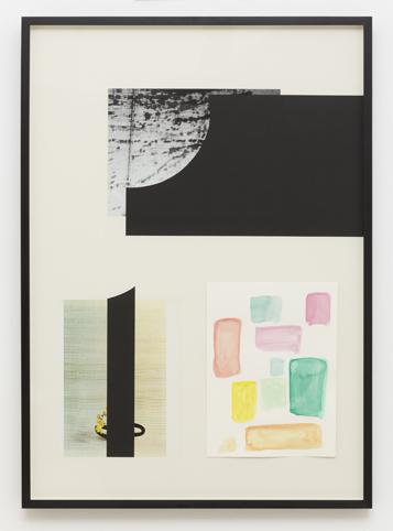 MARITA FRASER  O.T. (no.9) 2014 collage, gouache on paper bookplate, Cos Magazine 86 ×61.5 cm