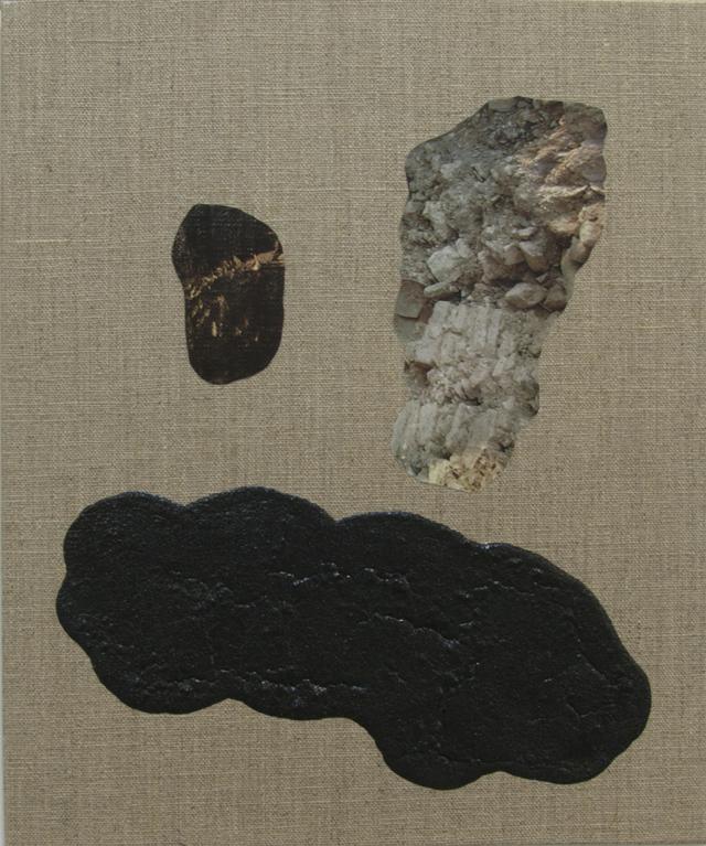 ELOISE KIRK  Sad Cloud  2014 collage, binder, resin and pigment on linen 25 ×30 cm