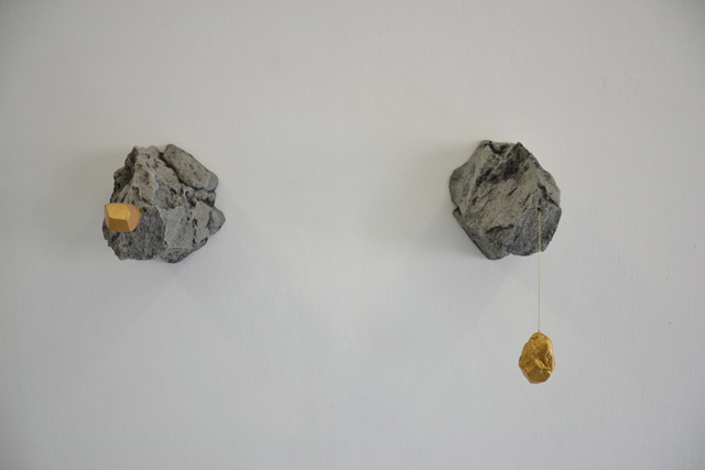 ELOISE KIRK Chrysopoeia #1 and #2 fiberglass, plasticine, acrylic and string Dimensions variable 20 × 25 × 38cm