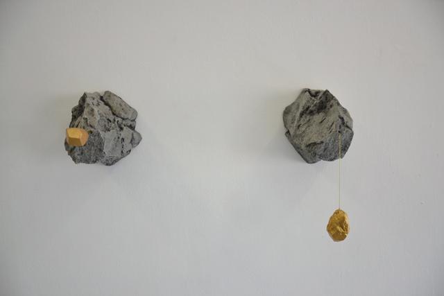 ELOISE KIRK Chrysopoeia #1 and #2 fiberglass, plasticine, acrylic and string Dimensions variable 20 ×25 ×38 cm