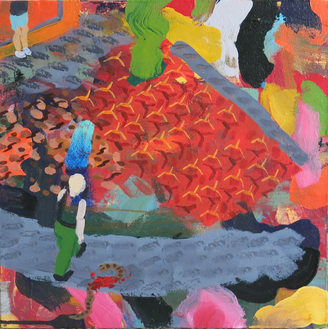 TIM PRICE   3rd Enchanted Evening  2014 acrylic on canvas 40 ×40 cm