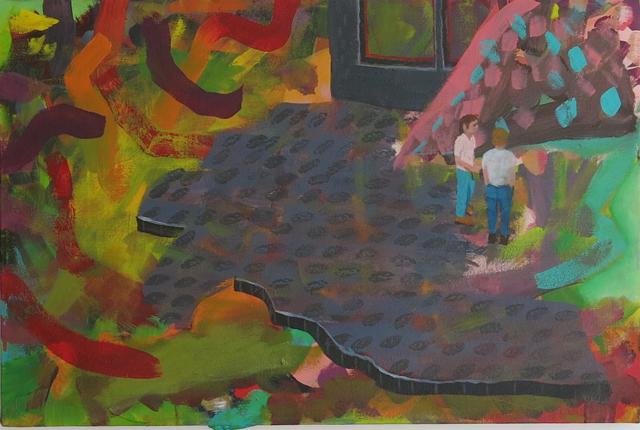 TIM PRICE   Yeah I Always Felt, What I Always Felt  2014  acrylic on canvas 50 ×75 cm