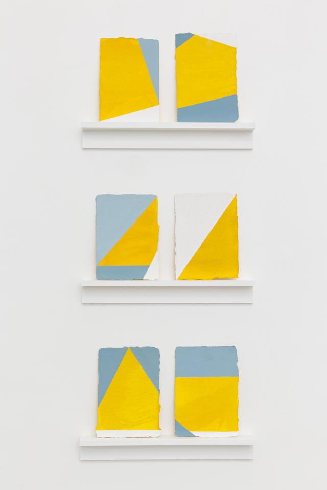LYNNE EASTAWAY  Goya's Corners series 3 2013 acrylic on paper 15.5 ×11 cm