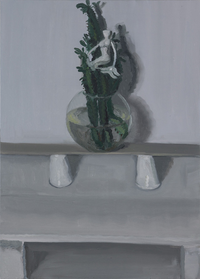 YVETTE COPPERSMITH  Formerly Unnoticed Gestures Re=Appearing  2014 oil on linen 91.5 ×68 cm