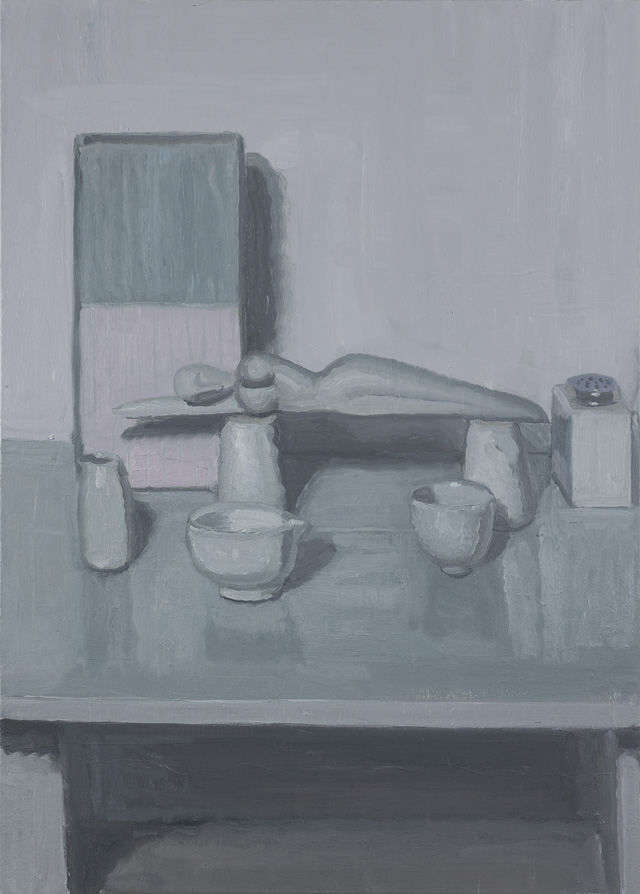 YVETTE COPPERSMITH  Side-Effect Of Lovingly Repeated Actions  2014  oil on linen 91.5 ×66 cm