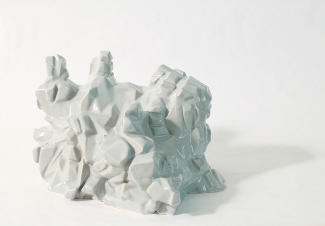 PETER NELSON  Digital Celadon Ceramic (The Lost Man)  2014  3D printed ceramic 15 × 24 × 22 cm