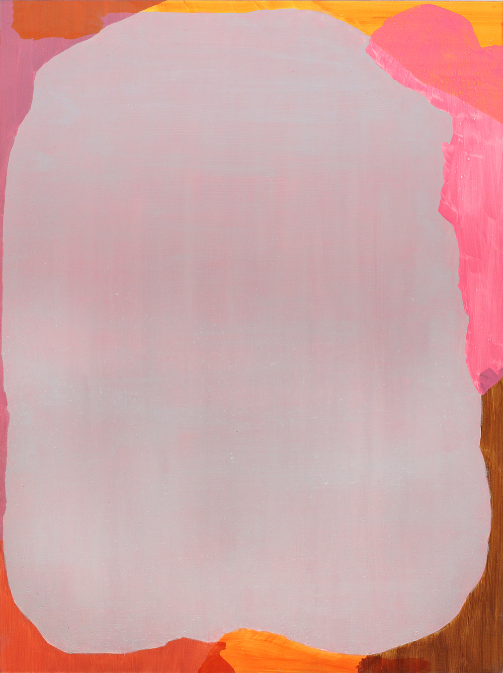 BALEM LETT  Pink  2014 oil on aluminium composite board 49 × 37 cm