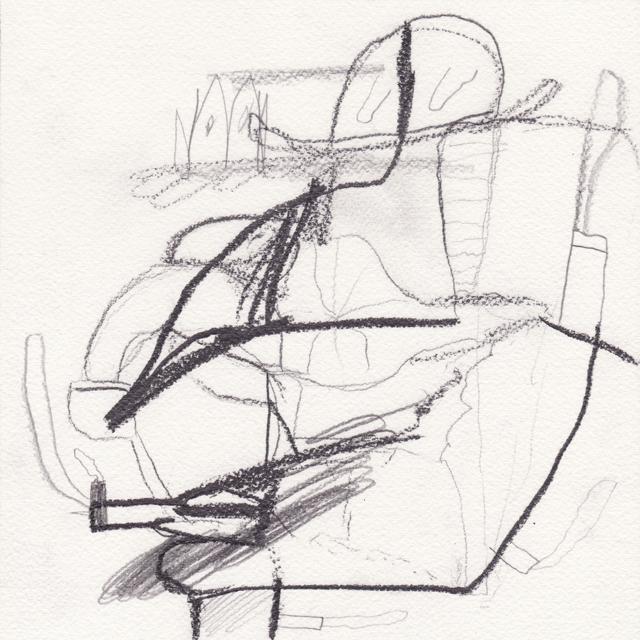 MATTHEW HOPKINS  Pipe Smoker #1  2013 pencil on 100% cotton paper 20 ×20 cm