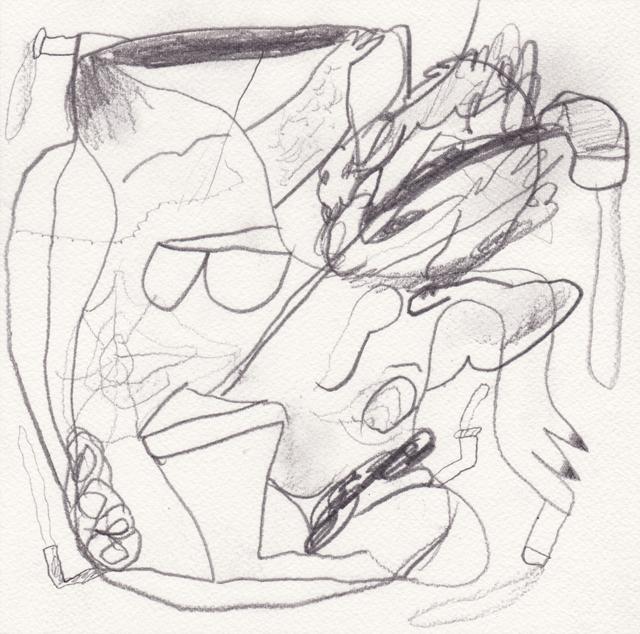 MATTHEW HOPKINS  Pipe Smoker #2  2013 pencil on 100% cotton paper 20 ×20 cm