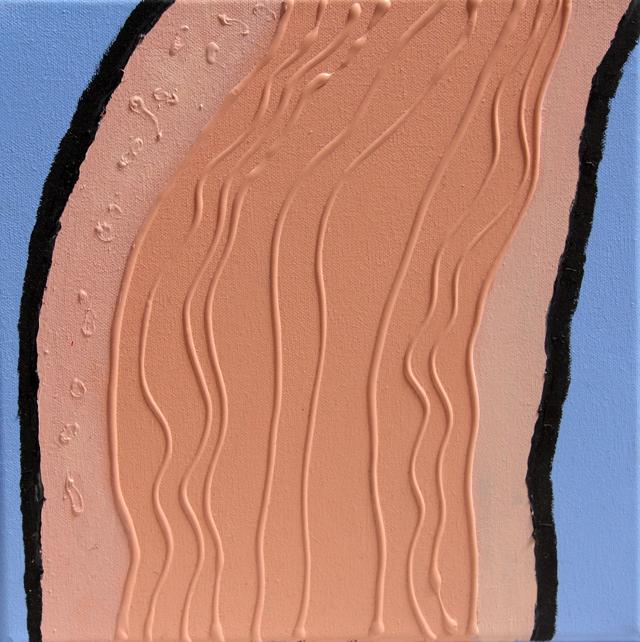 MATTHEW HOPKINS  Throat  2013 oil acrylic and gel medium on canvas 30 ×30 cm