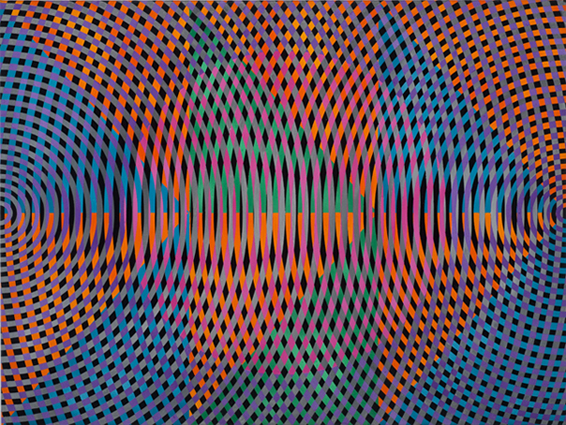 JOHN ASLANIDIS  Sonic no. 27  2012 oil and acrylic on canvas 77 × 102 cm