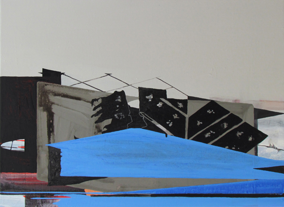 JULIAN HOOPER  Inlet  2014 acrylic on linen 56 ×76 cm
