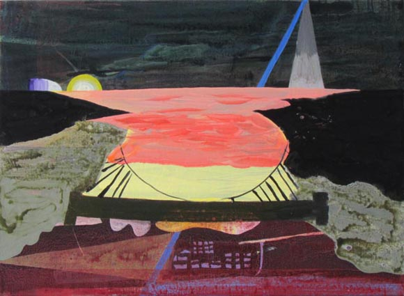 JULIAN HOOPER  To the coast  2013 acrylic on linen 56 x 76 cm