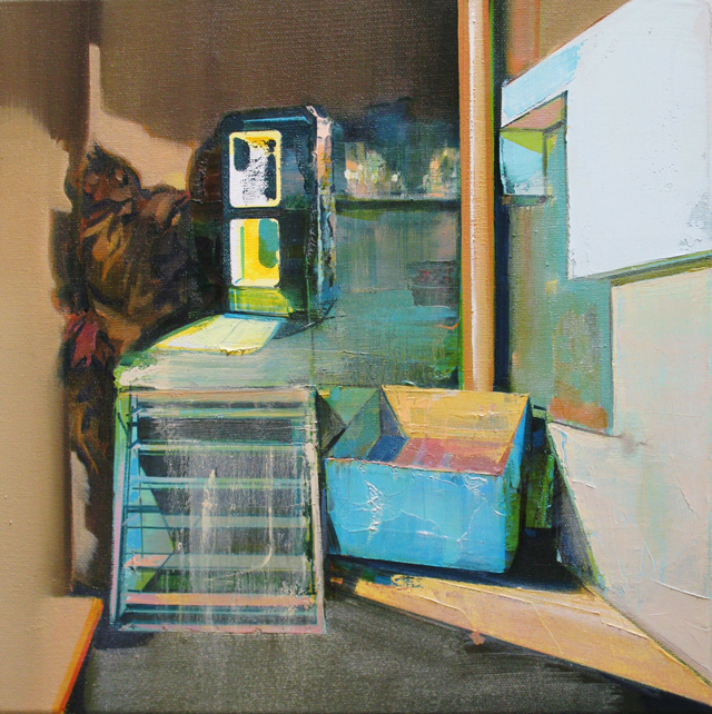 DAVID RALPH  Introduction to Plagwitz  2013 oil on canvas 40 × 40 cm