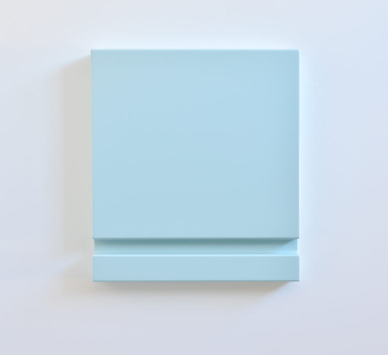 SUZIE IDIENS  Untitled (Blue Slot)  2012 MDF, polyurethane (high gloss) 60 × 54 × 6.5 cm