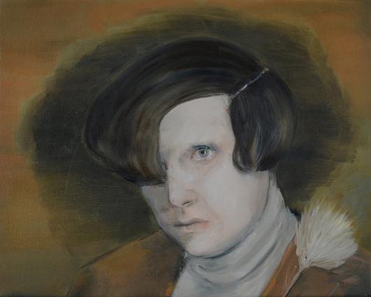 JELENA TELECKI  The Romantic  2014 oil on linen 41 ×51 cm
