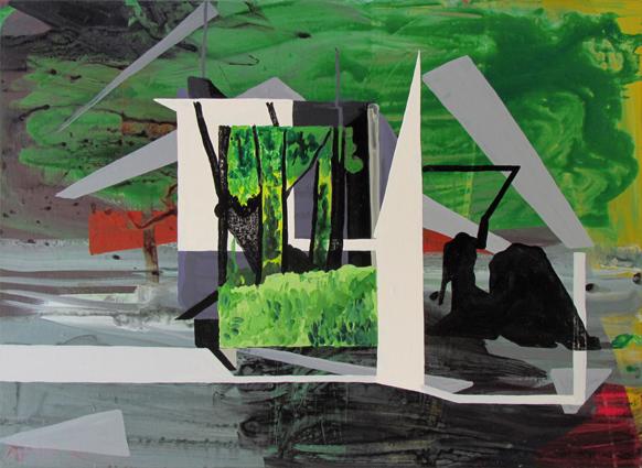 JULIAN HOOPER  Annex  2014 acrylic on linen 56 ×76 cm