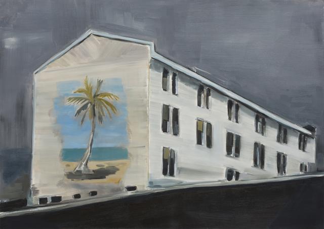 JELENA TELECKI  77  2012 oil on canvas paper 42 ×59.4 cm