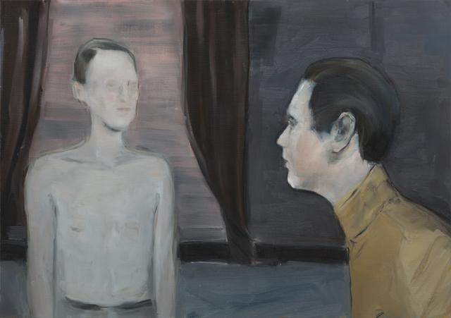 JELENA TELECKI  Dolčevita  2012 oil on canvas paper 42 ×59.4 cm