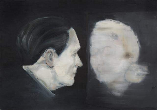 JELENA TELECKI  Roland  2012 oil on canvas paper 42 ×59.4 cm
