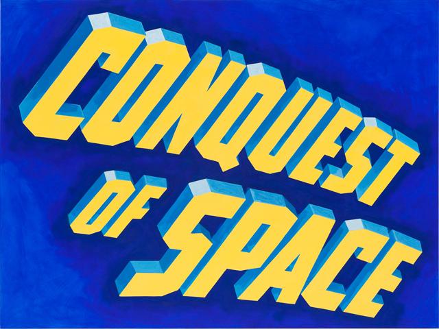 ADAM NORTON  Conquest Of Space (text)  2012 vinyl on paper 35 ×47 cm