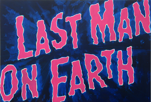 ADAM NORTON  Last Man On Earth  2012 vinyl on canvas 160 ×113 cm