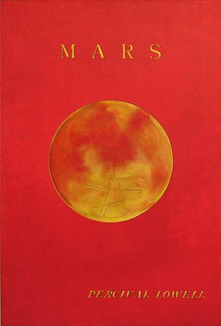 ADAM NORTON  Mars, Percival Lowell  2012 vinyl on canvas 182 ×121 cm