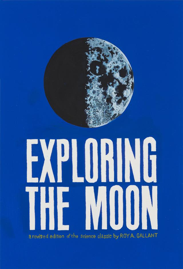 ADAM NORTON  Exploring The Moon  2013 vinyl on paper 51 ×35 cm